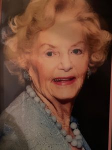 Ruth Buchanan a favorite photo used on her last Christmas card 2019